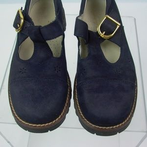 Hanna Andersson girls shoes Blue Suede 32